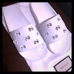 Gucci White Woman Slides
